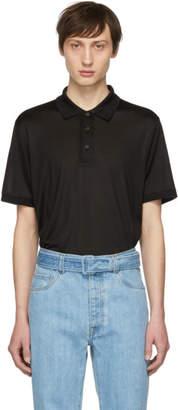 Brioni Black Silk Polo