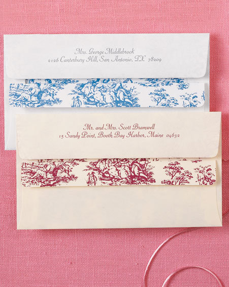 Toile Self-Seal Envelopes