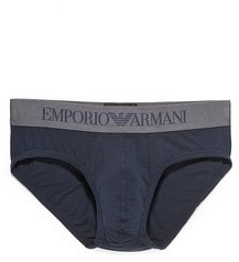 Emporio Armani Iconic Logoband Stretch Cotton Briefs $34 thestylecure.com