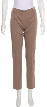 Agnona Mid-Rise Straight-Leg Pants w/ Tags