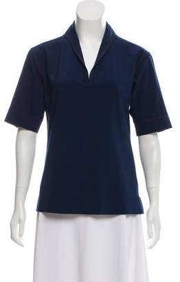 Prada Sport Mock Neck Short Sleeve Top