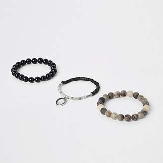 River Island Grey bead bracelet pack