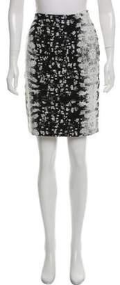 Reed Krakoff Patterned Silk-Blend Skirt Black Patterned Silk-Blend Skirt