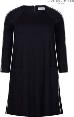 Next Womens Live Unlimited Black Plain Ponte Dress