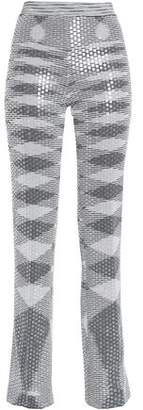 Missoni Sequin-Embellished Metallic Jacquard-Knit Straight-Leg Pants
