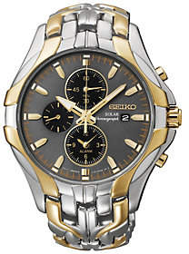 Seiko Men's Two-Tone Excelsior Solar Chronograph Watch