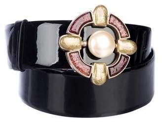 Chanel Gripoix Patent Belt