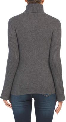 Chunky Rib Cashmere Turtleneck Sweater