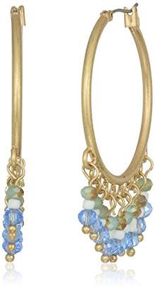 lonna & lilly Women's Gold-Tone and Shaky Hoop Earrings
