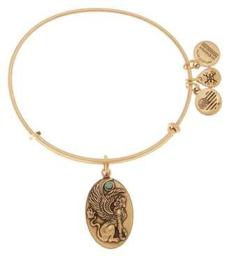 Alex and Ani Crystal Detail Sphinx Charm Adjustable Bracelet