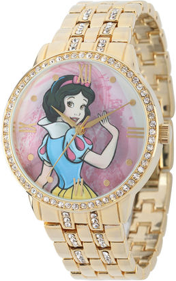 DISNEY Disney Snow White Womens Crystal-Accent Gold-Tone Bracelet Watch $69.99 thestylecure.com