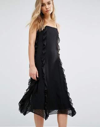 Warehouse Strappy Frill Dress