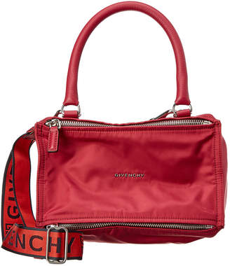 Givenchy Small 4G Pandora Nylon & Leather Shoulder Bag