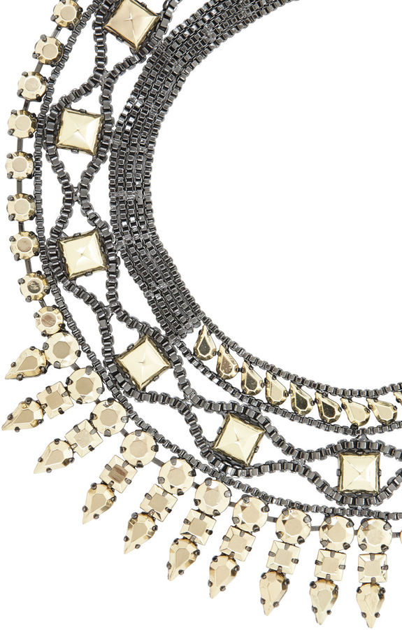 BCBGMAXAZRIA Heavy-Metal Spike Necklace