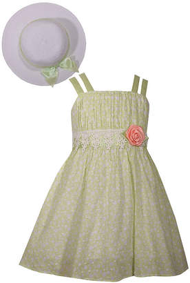 Bonnie Jean 4-6X Sleeveless Dress With Hat