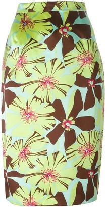 Prada Pre-Owned floral pencil skirt