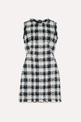 Alexander McQueen Checked Boucle-tweed Mini Dress