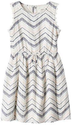 Girls 4-7 SONOMA Goods for LifeTM Zig Zag Dress $32 thestylecure.com