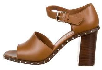 Valentino Leather Strap Sandals
