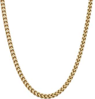 Lynx LYNXMen's Gold Tone Stainless Steel Foxtail Chain Necklace - 30 in.