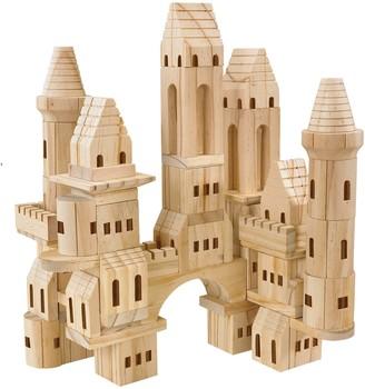 Fao Schwarz FAO Schwarz 75-Piece Wood Castle Blocks Set