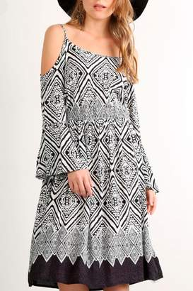 Mystree Aztec Print Dress