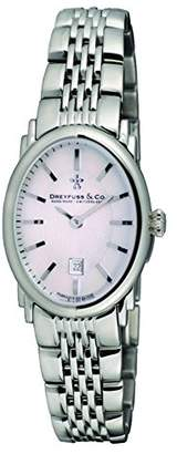 Dreyfuss & Co Dreyfuss Womens Quartz Watch, Analogue Classic Display and Stainless Steel Strap DLB00044/06