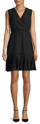 ABS by Allen Schwartz COLLECTION Sleeveless Lace-Trimmed Fit and Flare Dress