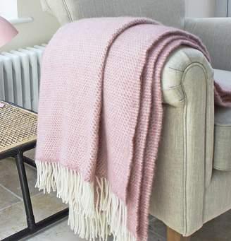 Marquis & Dawe Blush Pink Wool Throw