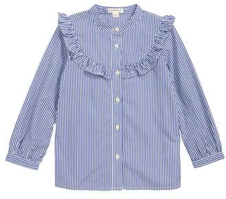 J.Crew crewcuts by Stripe Ruffle Trim Shirt