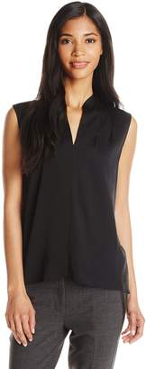 Elie Tahari Women's Judith Silk Georgette Sleeveless Blouse