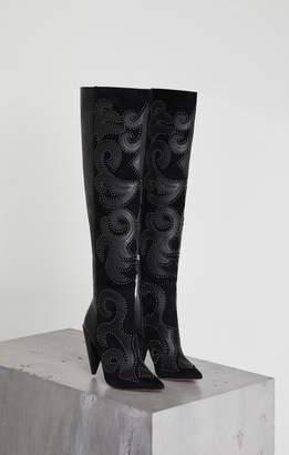 BCBGMAXAZRIA Jolene Leather Studded Boot