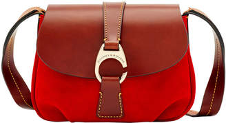 Dooney & Bourke Derby Suede Small Flap Crossbody