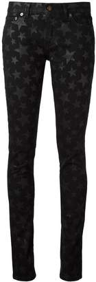 Saint Laurent star print skinny jeans