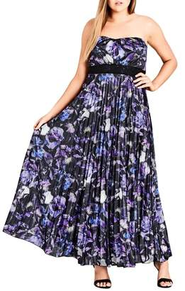 City Chic Lavender Floral Maxi Dress