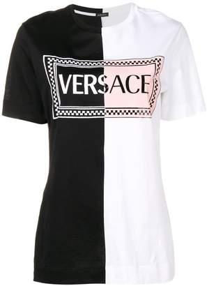 Versace two tone logo T-shirt