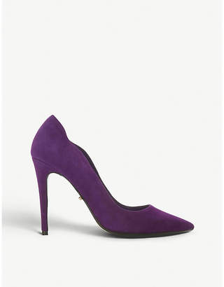 Dune Ashe wavy-cut suede courts