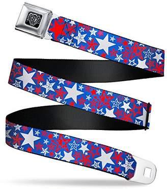 Buckle-Down Men's Seatbelt Belt Stars Kids