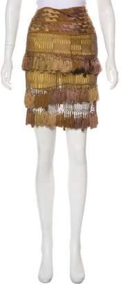 Gucci Embellished Knee-Length Skirt