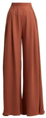 Jacquemus Pleated Woven Flared Trousers - Womens - Light Pink
