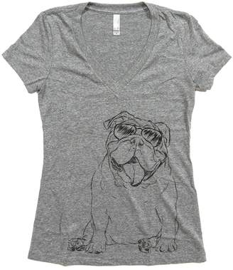 Inkopious Women's Tank The English Bulldog Fitted T-Shirt Large