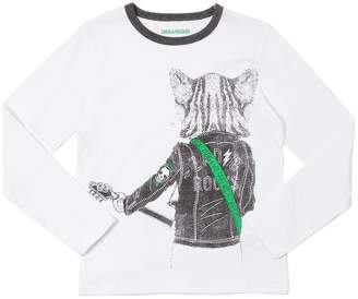 Zadig & Voltaire Wolf Printed Jersey Long Sleeve T-Shirt
