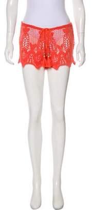 Miguelina Crocheted Mini Shorts