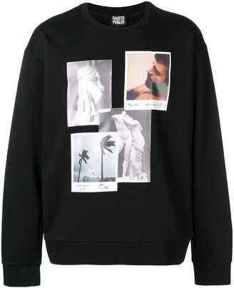 Fausto Puglisi photo print sweatshirt