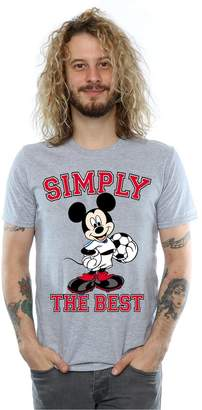 Disney Men's Mickey Mouse Simply The Best T-Shirt Medium Heather Grey
