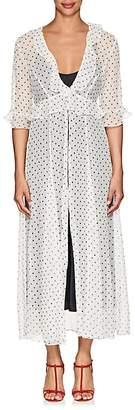 Leone WE ARE Women's Polka Dot- & Star-Print Crinkled Silk Cardigan