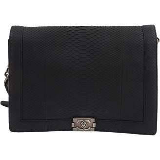 Chanel Boy Black Python Handbag