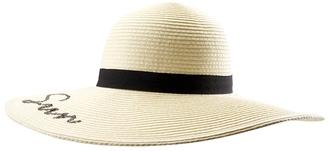 "Sun N Sand Women's Paperbraid 5"" Brim Beach Hat w/ Words 8159836 $21 thestylecure.com"