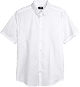H&M Easy-iron Shirt Slim fit - White