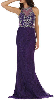 Asstd National Brand Formal Long Lace Evening Gown